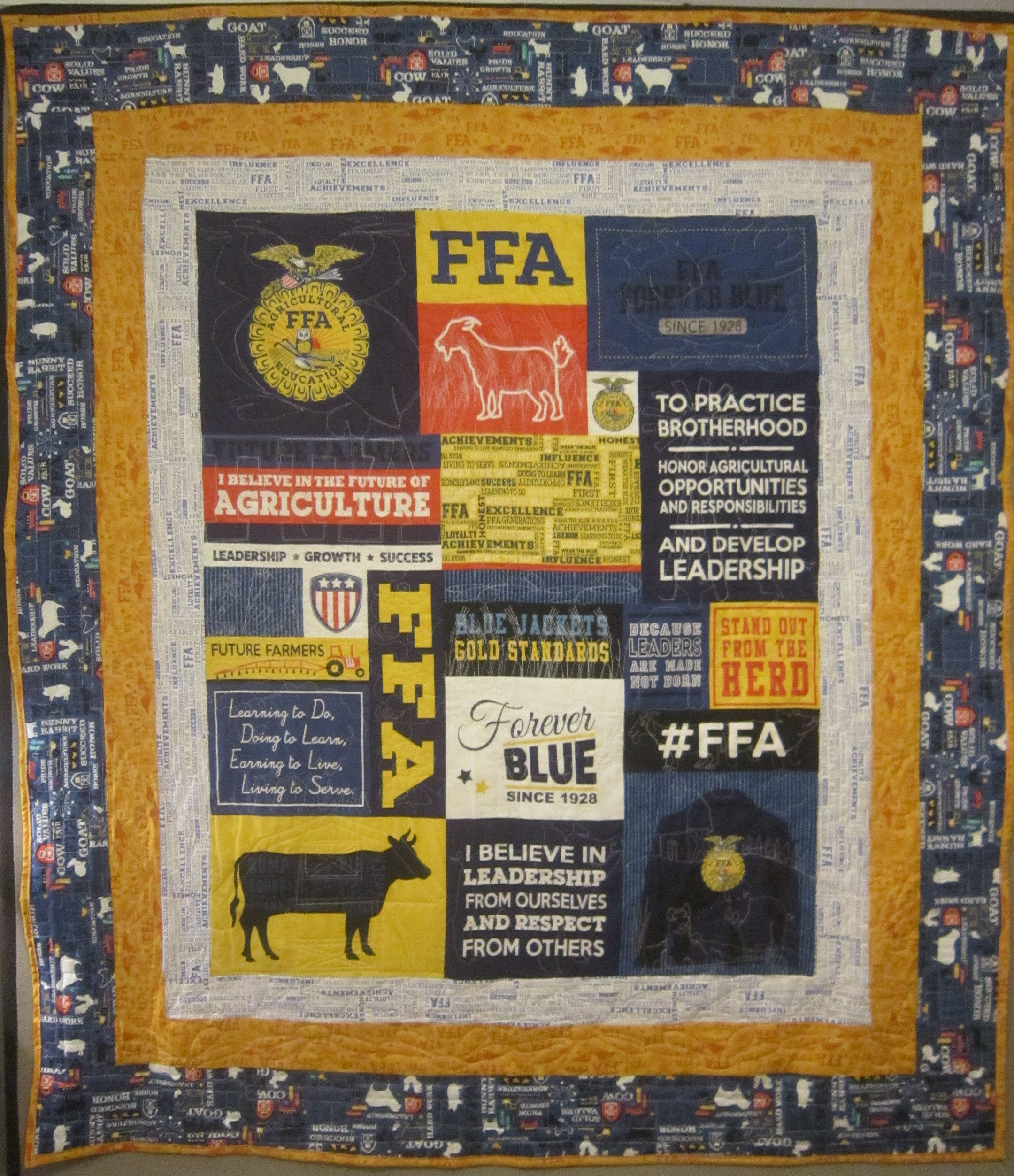Ffa Forever Blue Quilt Blue Quilts Quilts Ffa