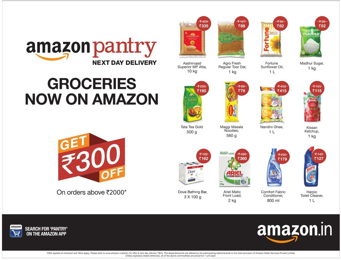 Amazon In Pantry Groceries Ad Times Of India Bangalore Check Out Amazon Advertisement Collection At Https Www Advertg Grocery Ads Grocery Delivery Groceries