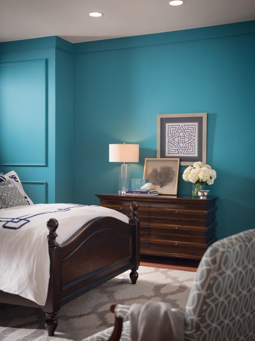 Make Any Space Pop With SW 6494 Lakeshore. The Vibrant Color Will Liven Up  Any Room. Include Accents Such As A Glass Lamp And Clean White Bedding To  Bring ...