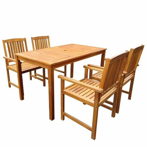 Sol 72 Outdoor Evelina 4 Seater Dining Set Outdoor Tables And