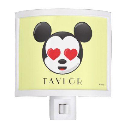#new #gift - #Trendy Mickey | In Love Emoji - Add Your Name Night Light
