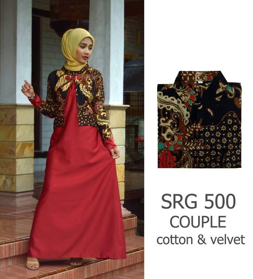 Model Gamis Batik Dengan Blazer di 12  Gaun lengan panjang