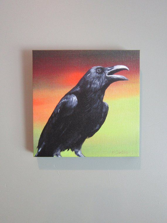 9ec8633b2b96f SUNSET RAVEN - raven, crow, native american, indian, corvid, love in ...