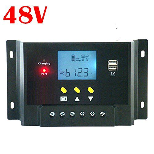 10a 20a 30a Lcd Pwm Solar Panel Charge Controller Battery Regulator 12v 24v With Dual Usb Dual Usb Solar Panels Solar