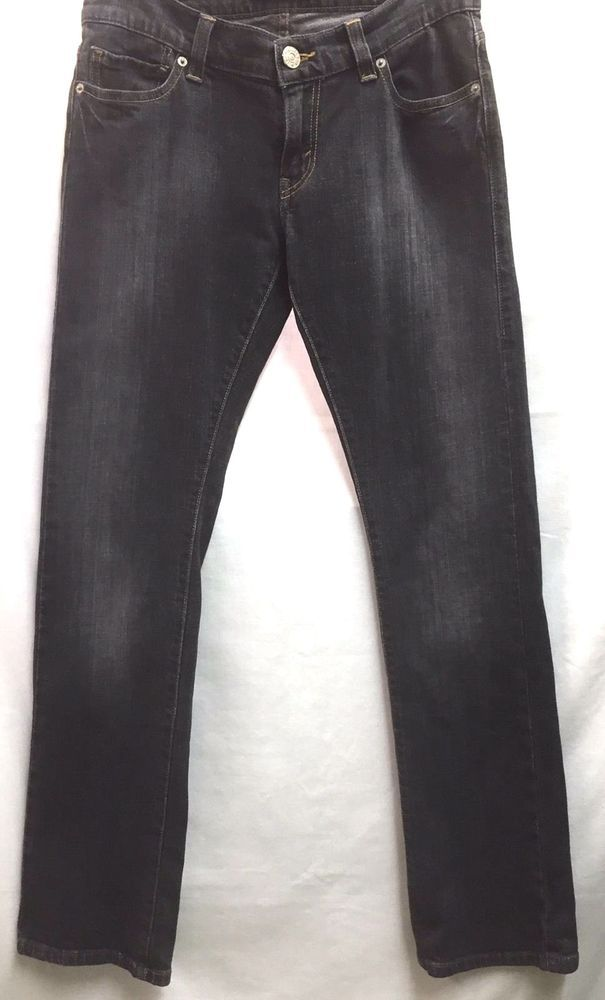 Levi's Junior Women's Tilted 504 Jeans Black Denim 7 Medium 32 X 32 #Levis #CapriCroppedStraightLeg