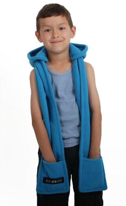 Amazon.com: Hooded Scarf for Kids - Scoodie - With Detachable Hood ...
