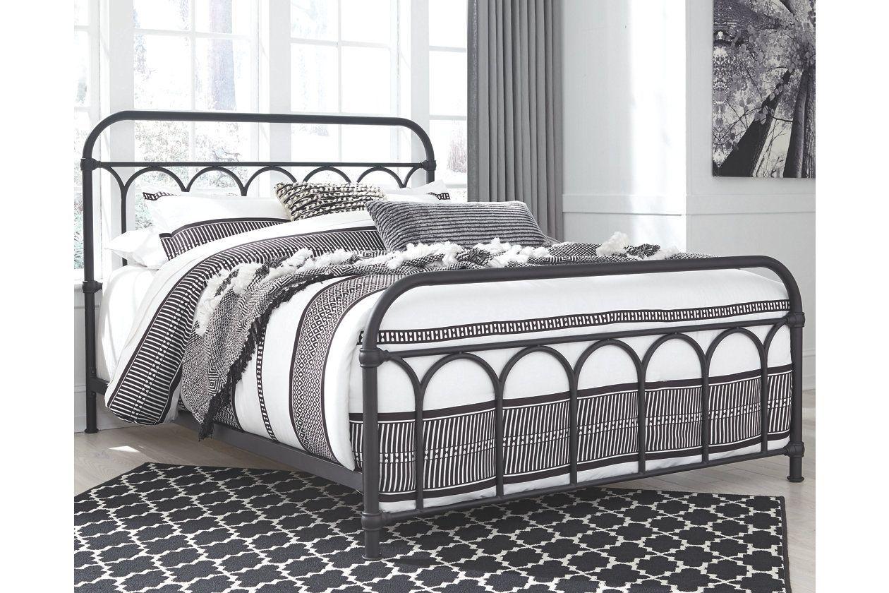 Nashburg Queen Metal Bed Ashley Furniture Homestore Queen