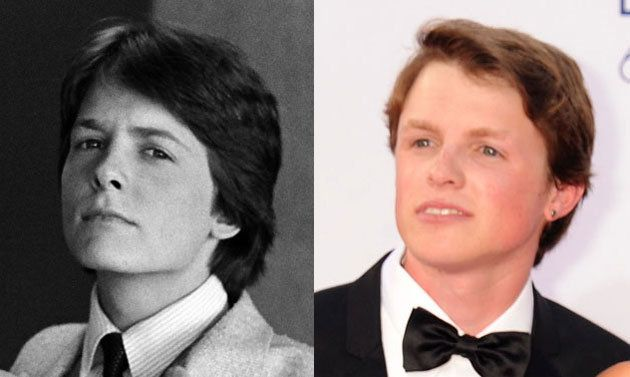 Image result for michael j fox and son