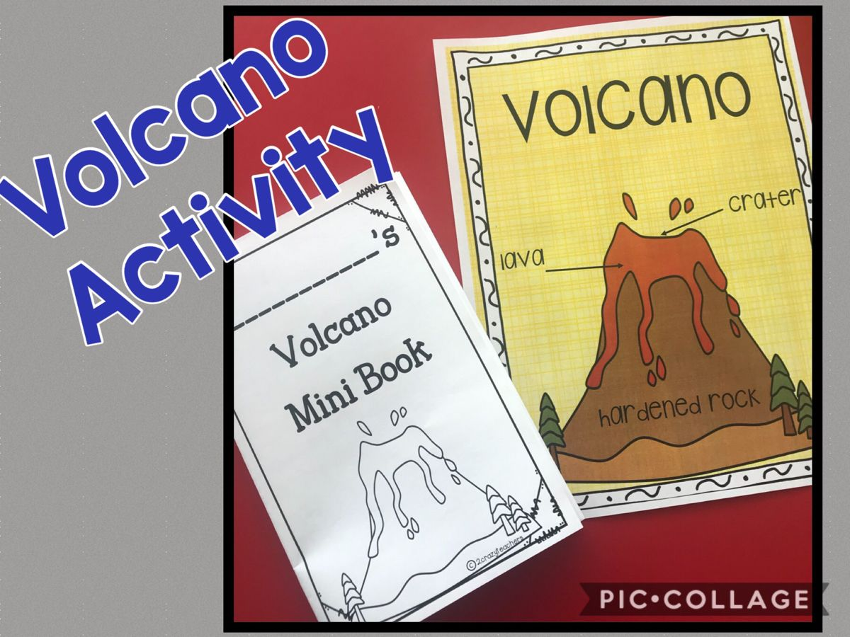 Volcano Mini Book And Poster In With Images