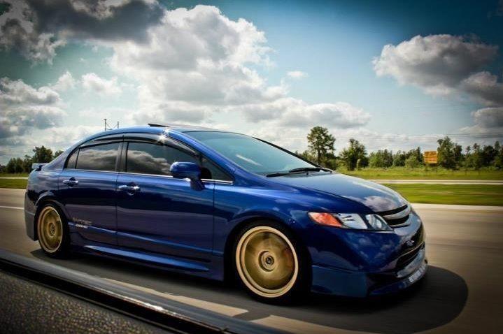 08 Honda Civic Si Fiji Blue