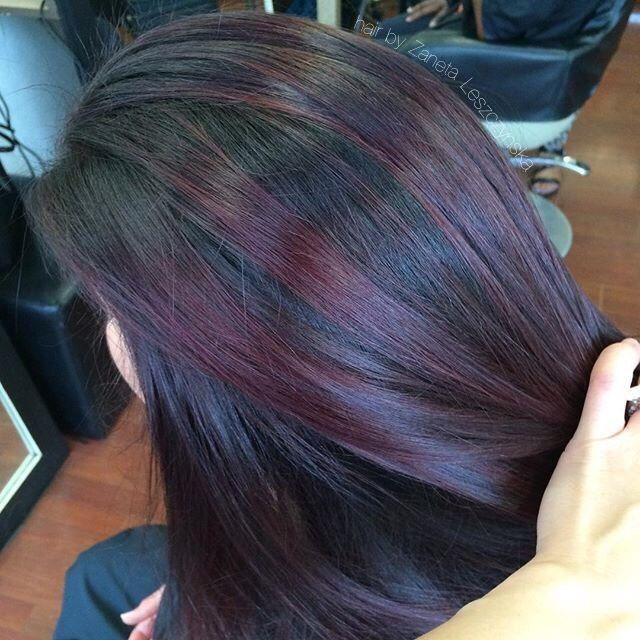 Purple And Red Plum Highlights Plum Hair Purple Hair