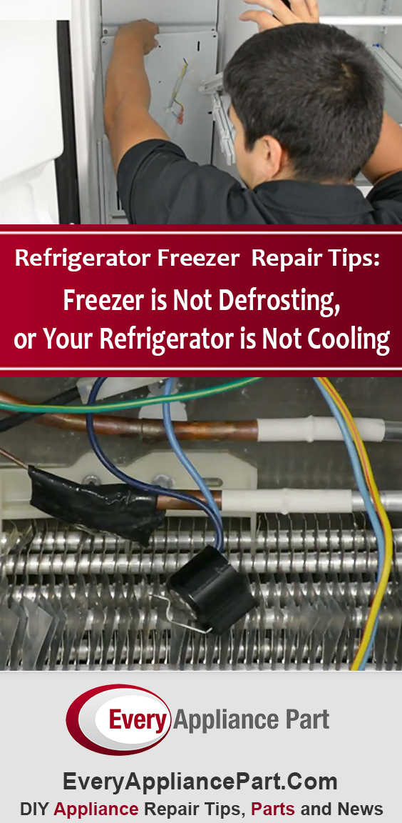 Refrigerator freezer is not defrosting, or your