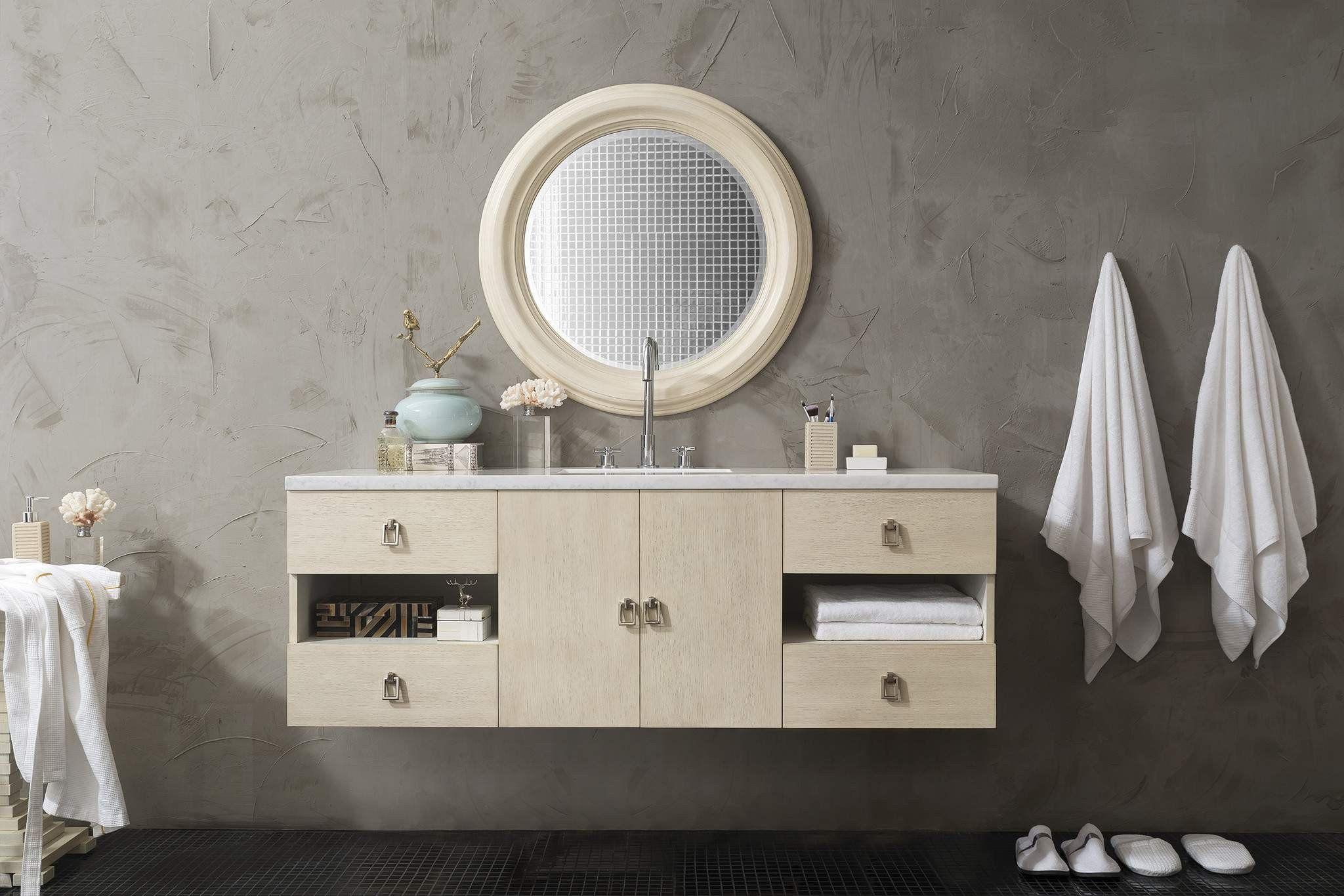 James Martin 860 V60s Vno Sonoma 60 Inch Single Vanity Vanilla Oak In 2021 Bathroom Vanities Without Tops Contemporary Bathroom Vanity Single Bathroom Vanity