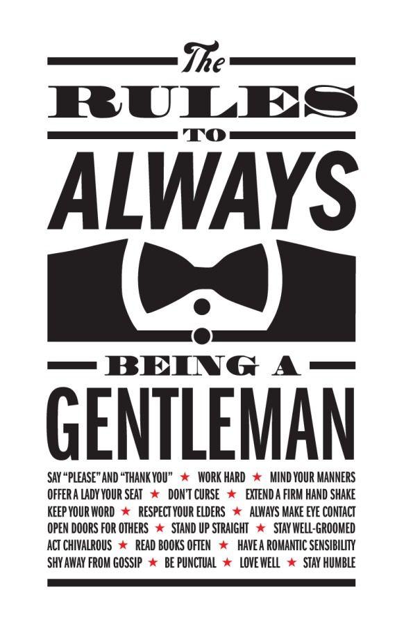 Book on being a gentleman