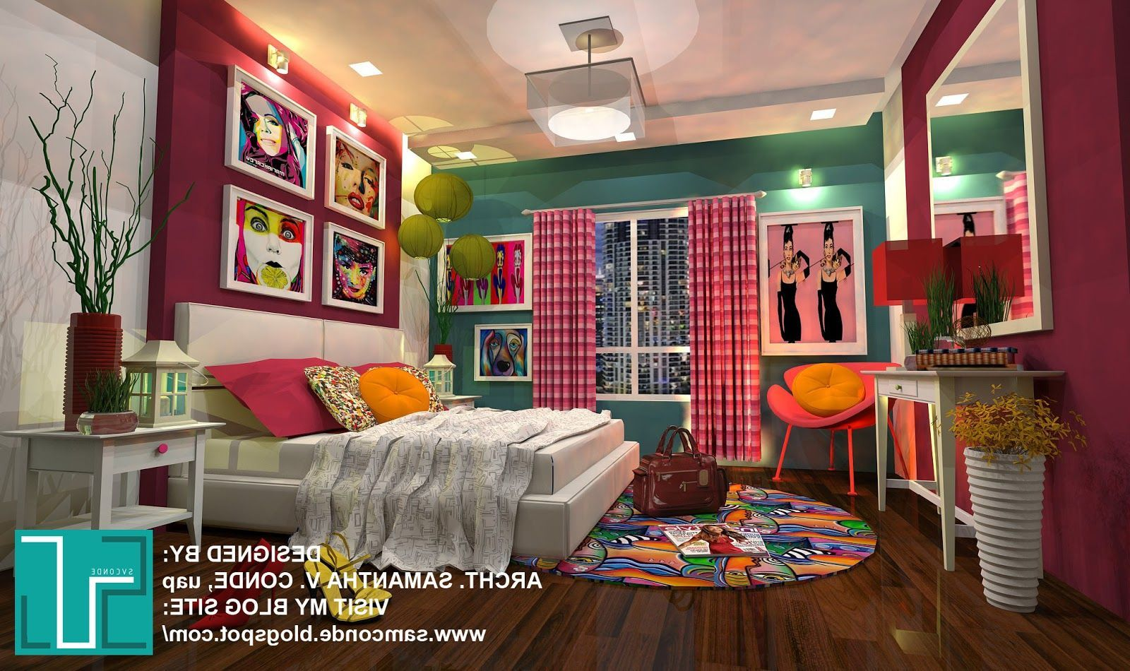 Interior Pop Art Interior Design And Decor Ideas For Striking And Cheerful Look Awesome Pop Art Bedroom S Pop Art Decor Pop Art Bedroom Interior Design Art