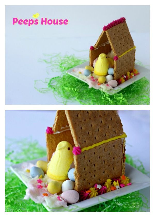 Cuteness alert! Peeps Houses are all the rage :) Give your Peeps an edible house this Easter! This is such a fun activity for kids (and grown-ups, too)