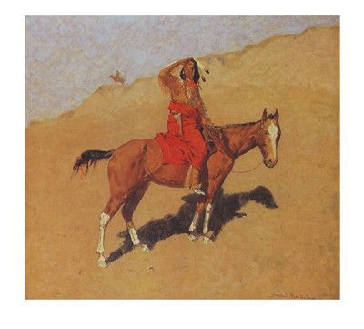 The Scout Frederic Remington Fine Art Print Poster