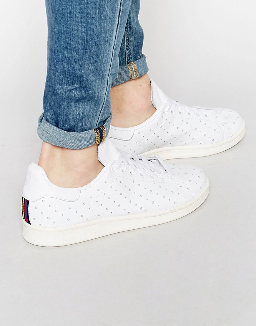 Image 1 of adidas Originals Stan Smith Perforated Sneakers S75078