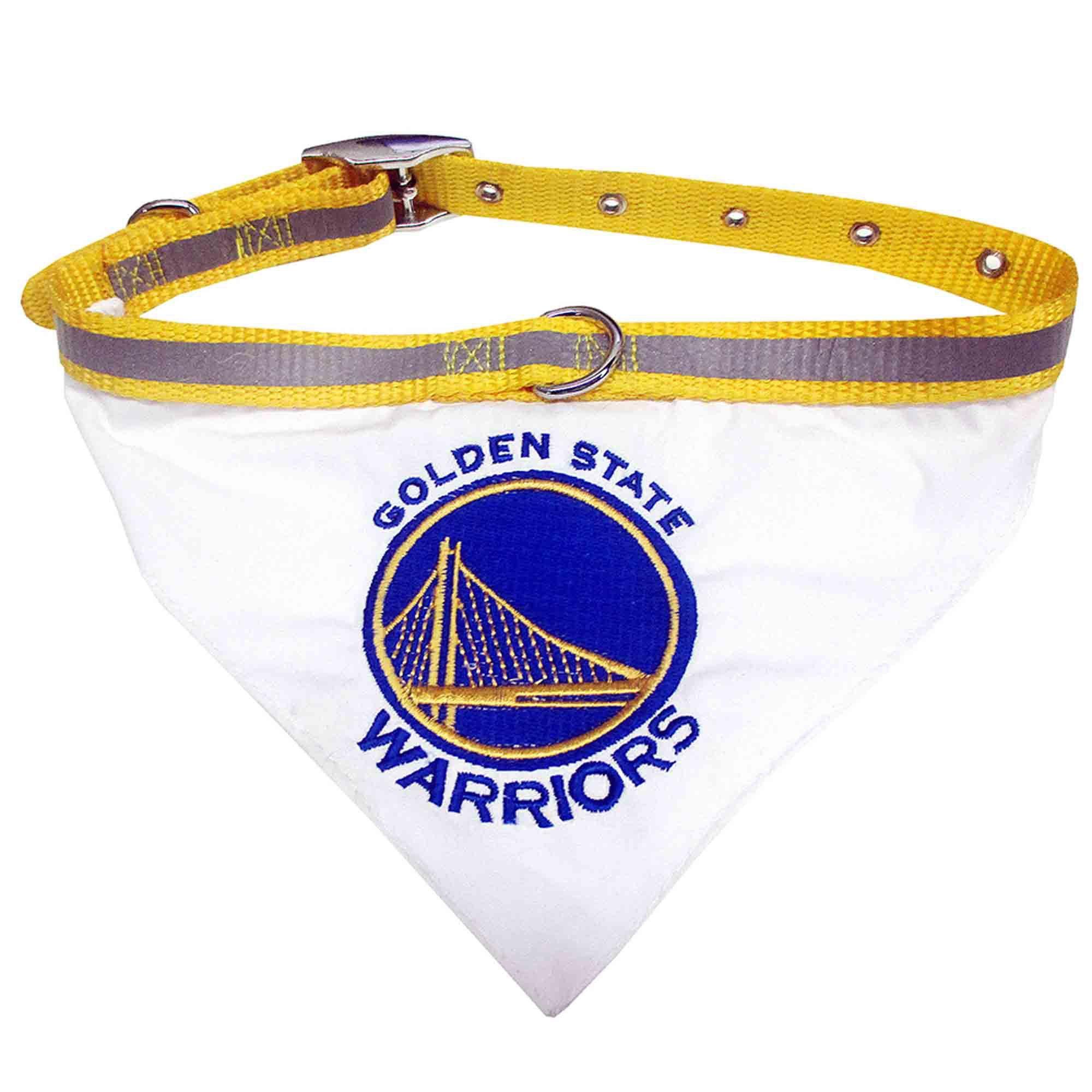 Pets First Golden State Warriors Pet Collar Bandana Medium Dog Collar Bandana Pet Collars Golden State Warriors