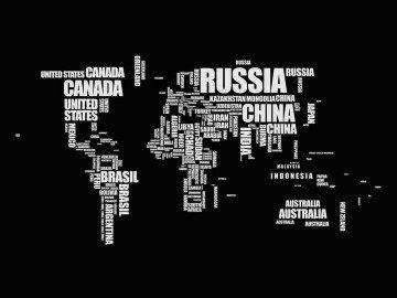 Mapa Mundi Nomes Preto E Branco Wallpaper Papel De