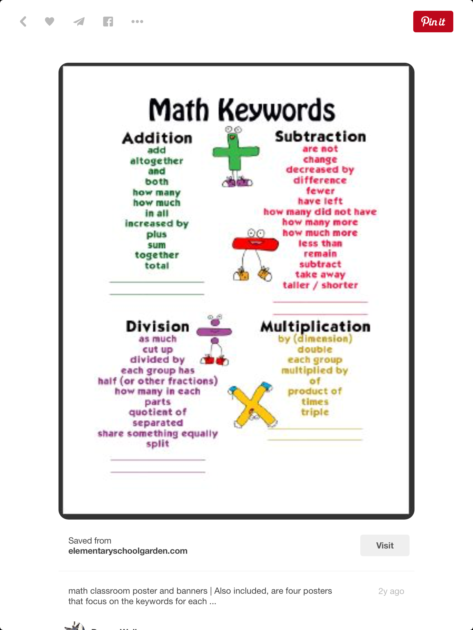 Pin by Jamika Walker on Math | Pinterest | Math