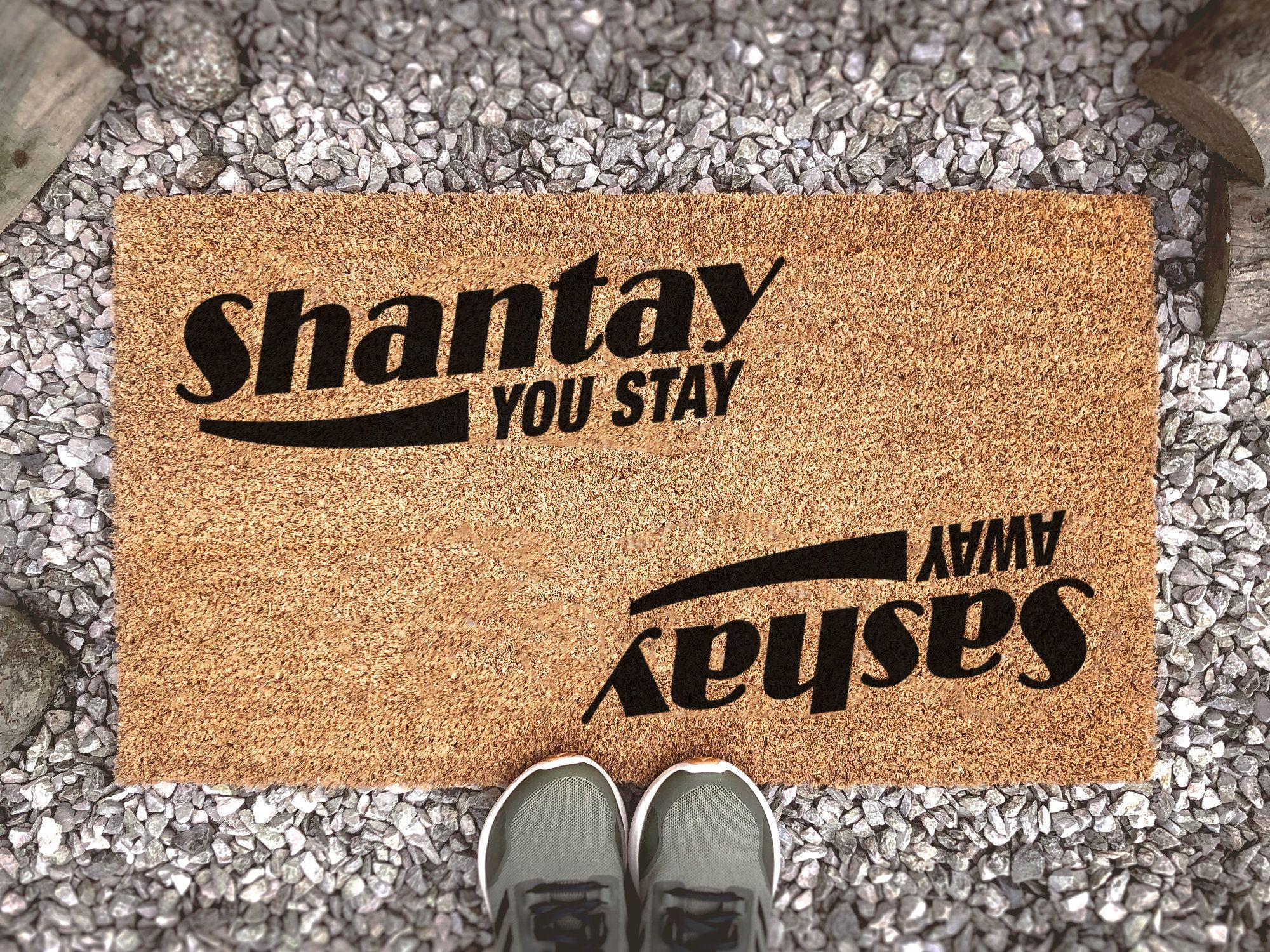 Rupaul S Drag Race Sashay Away Shantay You Stay Funny Etsy In 2021 Funny Doormats Rupauls Drag Race Sashay