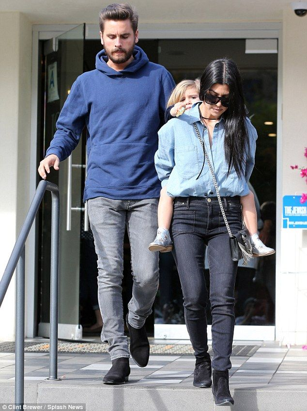 36420a86adbc Family outing  Kourtney Kardashian and Scott Disick took Penelope for lunch  in Calabasas on Wednesday
