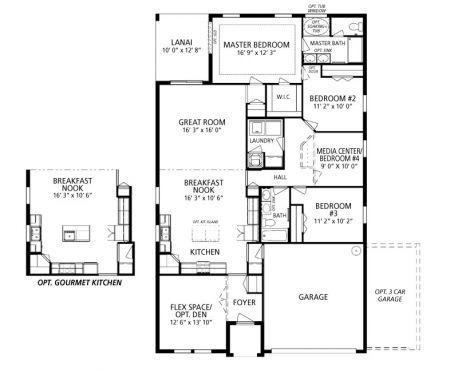 Maronda Hampton Single Family Home Design In Deland Fl Floor Plans Hamptons House House Design