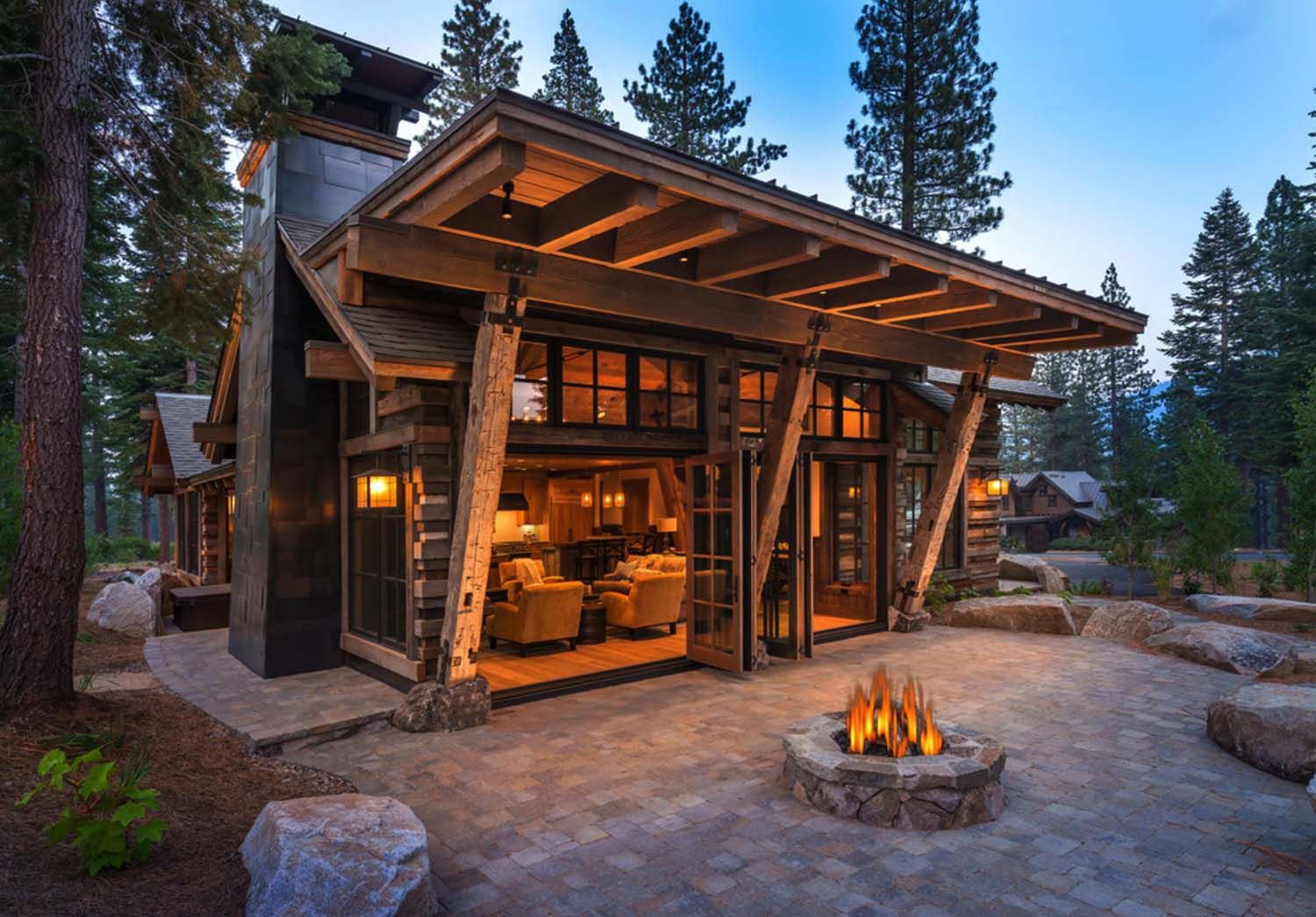 cozy mountain style cabin getaway in martis camp on modern cozy mountain home design ideas id=37458