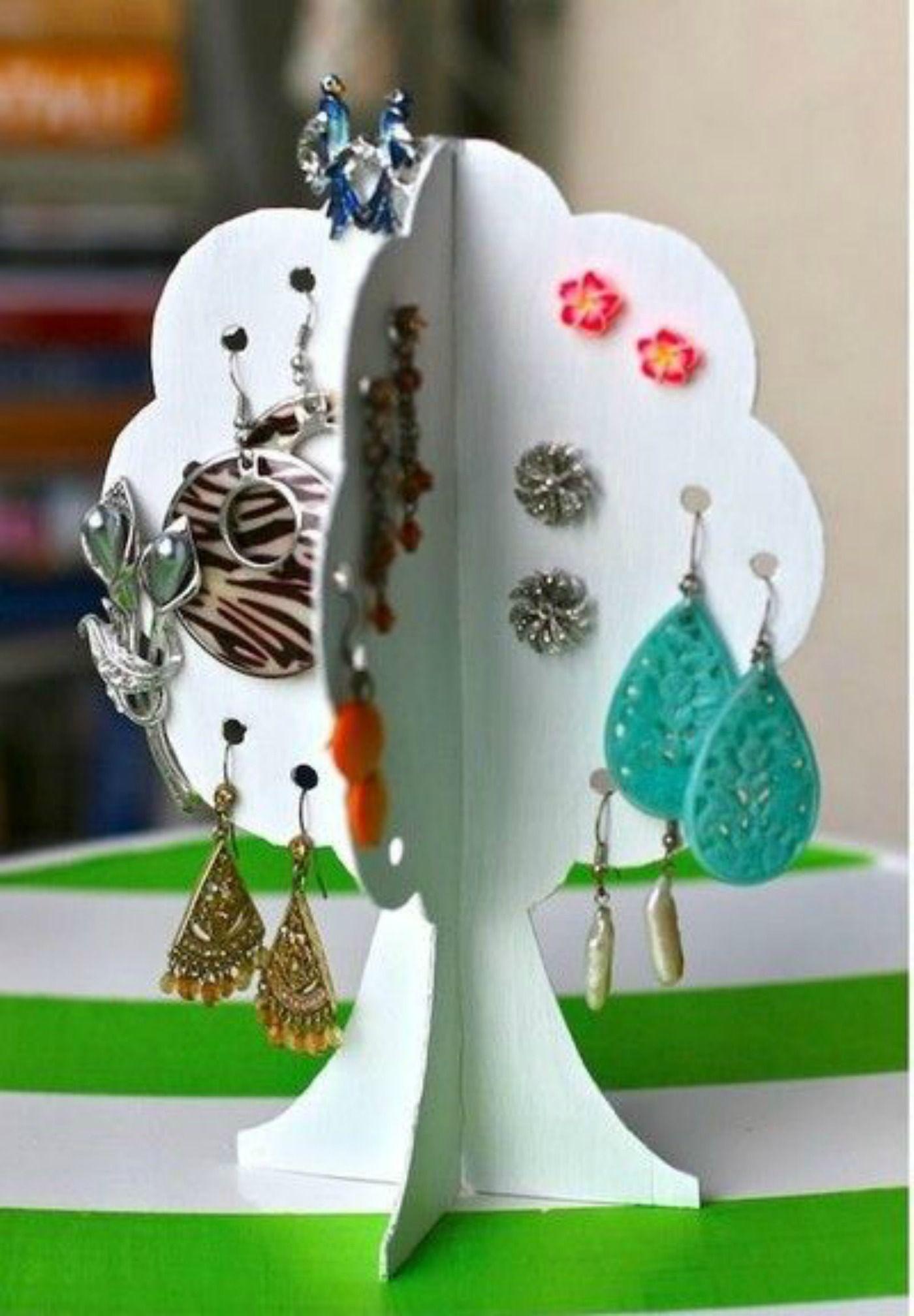 Idee Per Porta Orecchini espositore per orecchini con cartone riciclato