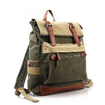 Functional Tramp canvas Backpack   Outdoor laptop Daypack mens from Vintage rugged canvas bags