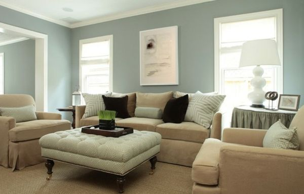 GroBartig Blaue Wand Dekokissen Braune Farbe Sessel   Wohnzimmer Streichen U2013 106  Inspirierende Ideen | Blaue Wand | Pinterest | Room Ideas, Room And Living  Rooms