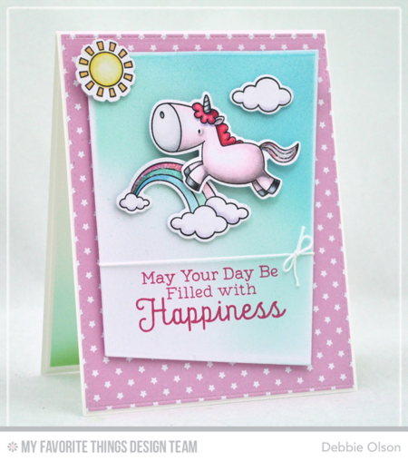 Magical Unicorns, Magical Unicorns Die-namics, Rainbow Greetings, Blueprints 15 Die-namics - Debbie Olson  #mftstamps