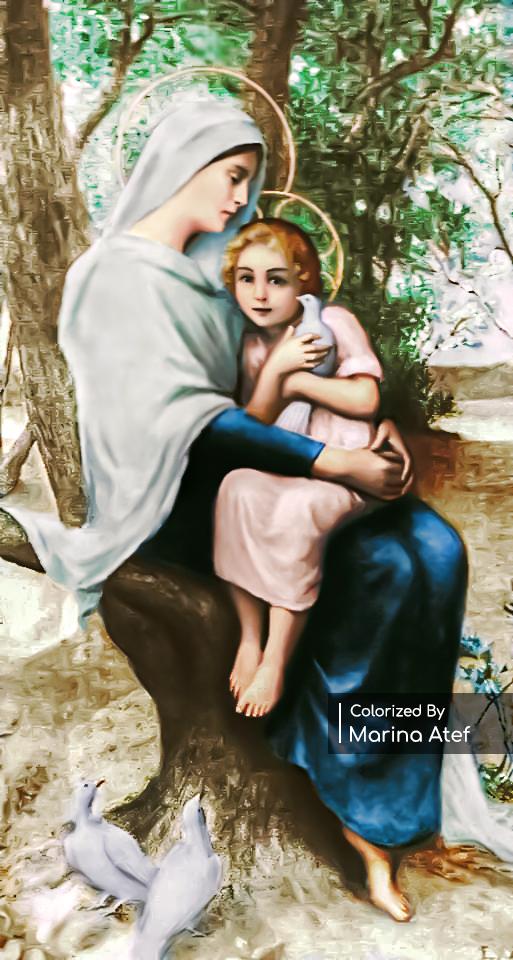 Mary Holding The Child Jesus Close To Her Heart By Mrmr96 السيدة العذراء مريم مع الطفل يسوع Child Jesus Jesus On The Cross Mother Mary