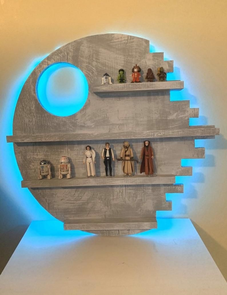 Death Star Custom Wall Display Shelf for Star Wars Figures and | Etsy