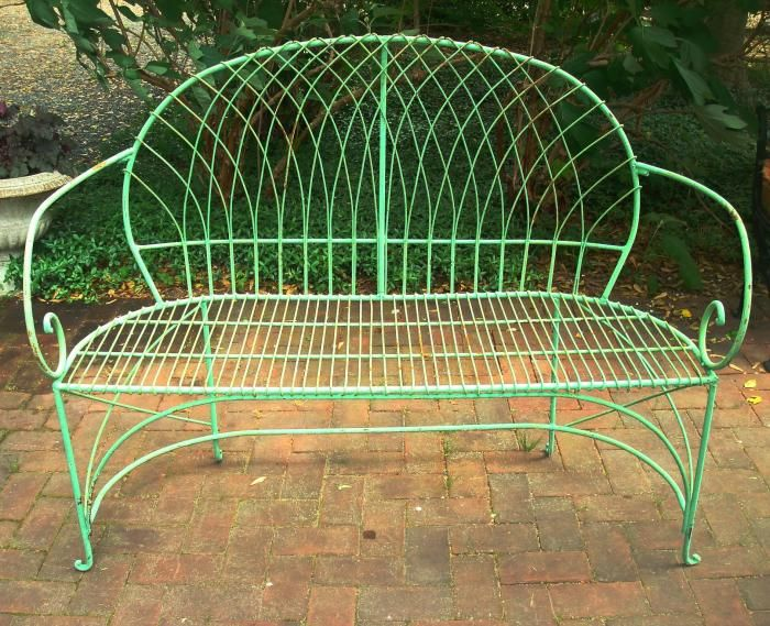 Brilliant Bench Wrought Iron And Wire Work Antique Patio Porch Pabps2019 Chair Design Images Pabps2019Com