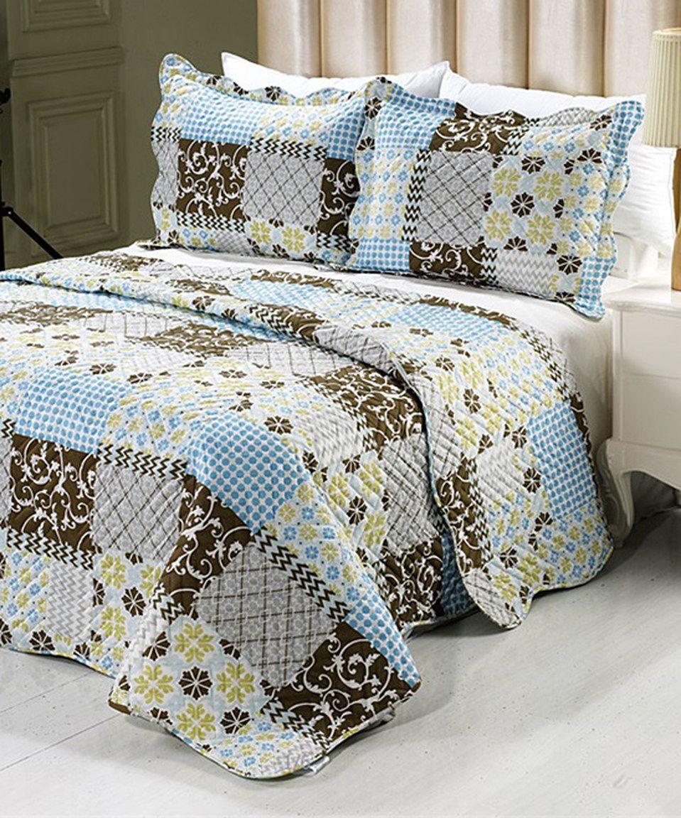 Best Brown Yellow Aaron Quilt Set By P A Zulily Zulilyfinds Quilt Sets Bedding And Bath Quilts 640 x 480