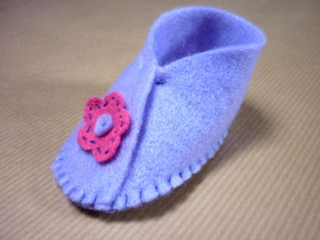 Free Felt Baby Shoe Pattern Easy To Sew Felt Baby Shoes