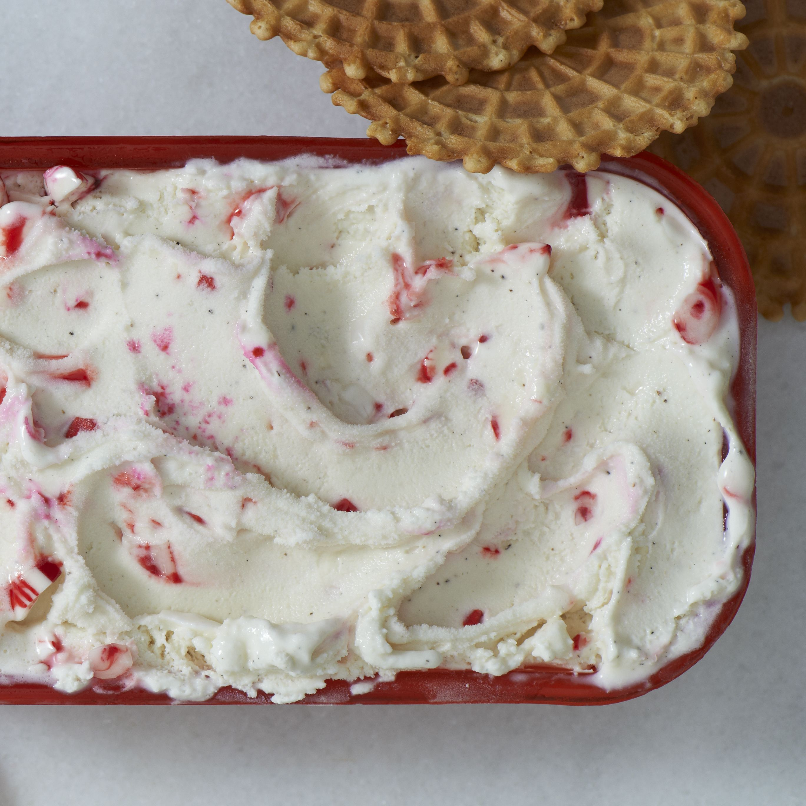 Tis the season for peppermint! Make the best of it with this homemade ice cream swirl—a perfect treat to bring at your next holiday potluck. Just spread 1/2 of the Breyers® Natural Vanilla Ice Cream into an 8-inch loaf pan. Sprinkle with 1/2 of the crushed candies; swirl into ice cream. Repeat. Serve immediately or cover and freeze until ready to serve.