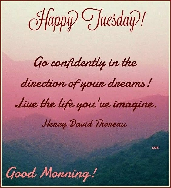 Tuesday Morning Inspirational Quotes: Good Morning! Happy Tuesday! #goodmorning