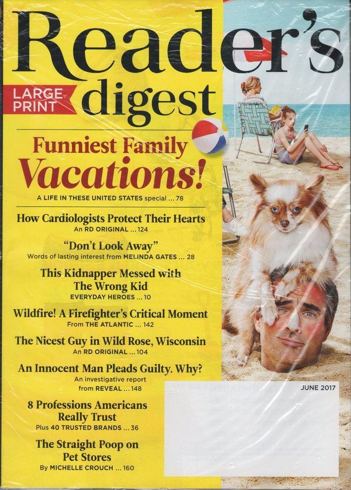 reader's digest magazine large print june 2017 - funniest family ...