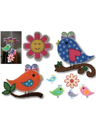 Accessorize with whimsical plastic canvas motifs! Cute patterns make  adorable additions to a baby's nursery