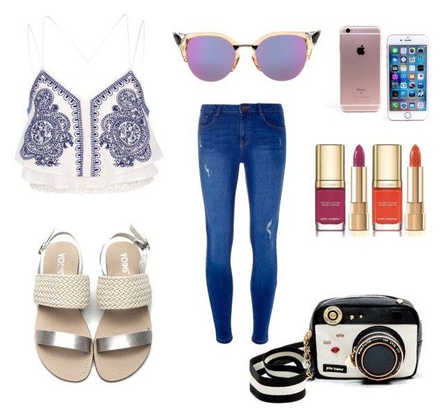 """Simple"" by livnajem on Polyvore featuring moda, Dorothy Perkins, River Island, Fendi, Betsey Johnson y Dolce&Gabbana"