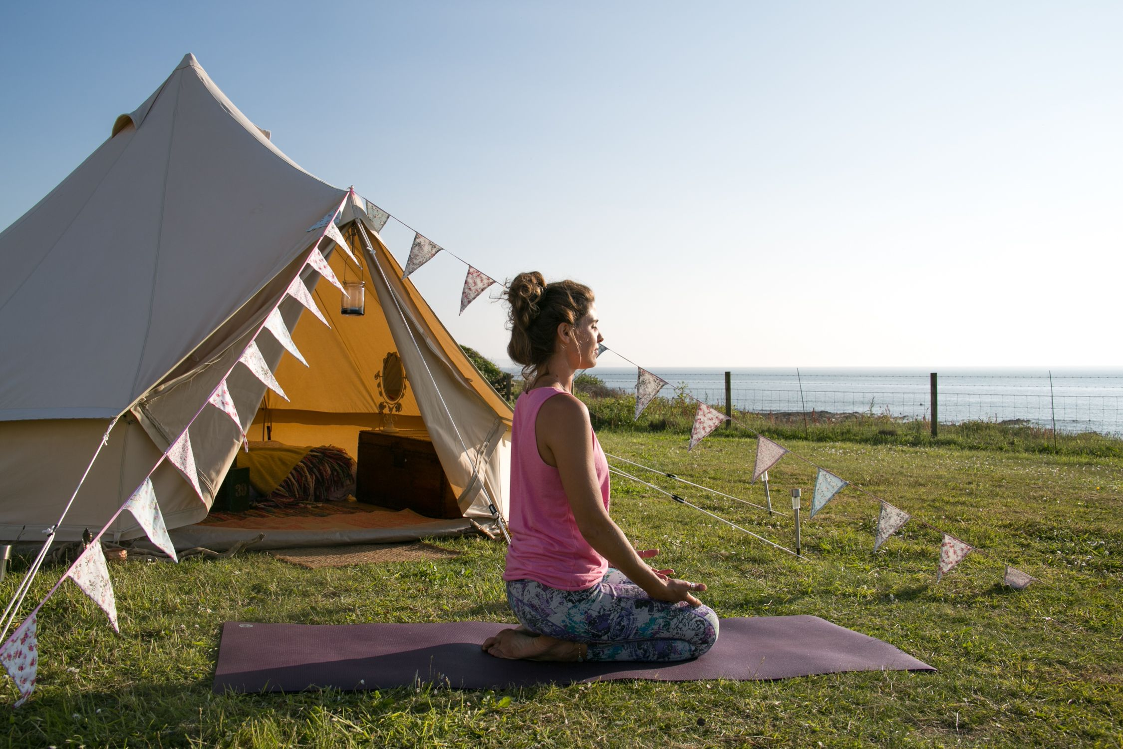 Relax and unwind by the sea at a Yoga Glamp Retreat http://www.bluefizzevents.co.uk/yogaglamp/