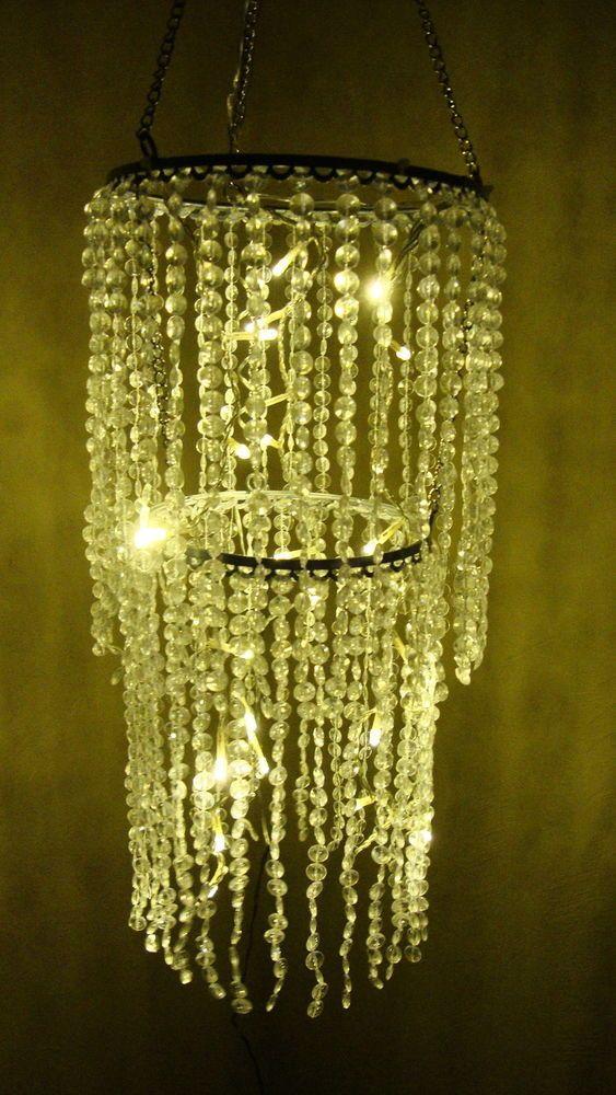 Traumhafte Fensterdekoration  LED Kronleuchter  Lüster  Lichterkette  Deko!!    EBay