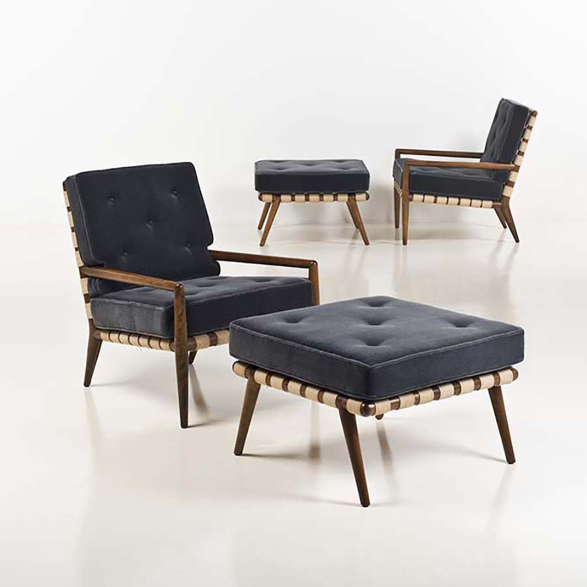 T.H. Robsjohn-Gibbings; Lounge Chair and Ottoman for Widdicomb ...
