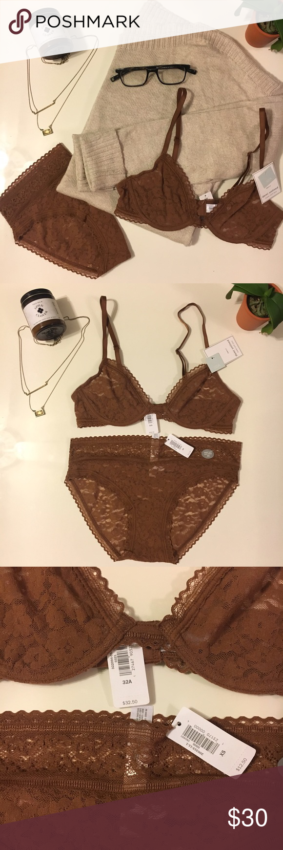 a676a96f850ca Gap body super soft mocha lace bra and panties 32A mocha lace underwire bra  with matching xs panties. So soft. And beautifully dreamy. GAP Intimates    ...
