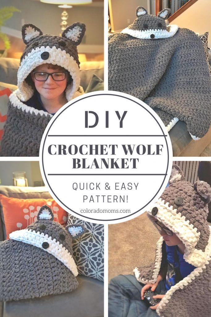 Easy Crochet Wolf and Fox Blanket Pattern – ColoradoMoms.com ...