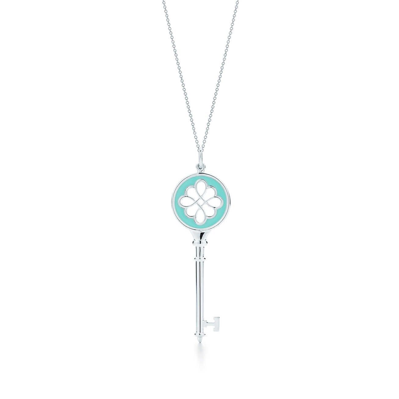 Tiffany Co Necklace Collection Knot Key Tiffany Blue Tiffany Key Sterling Silver Necklace Pendants Tiffany Necklace