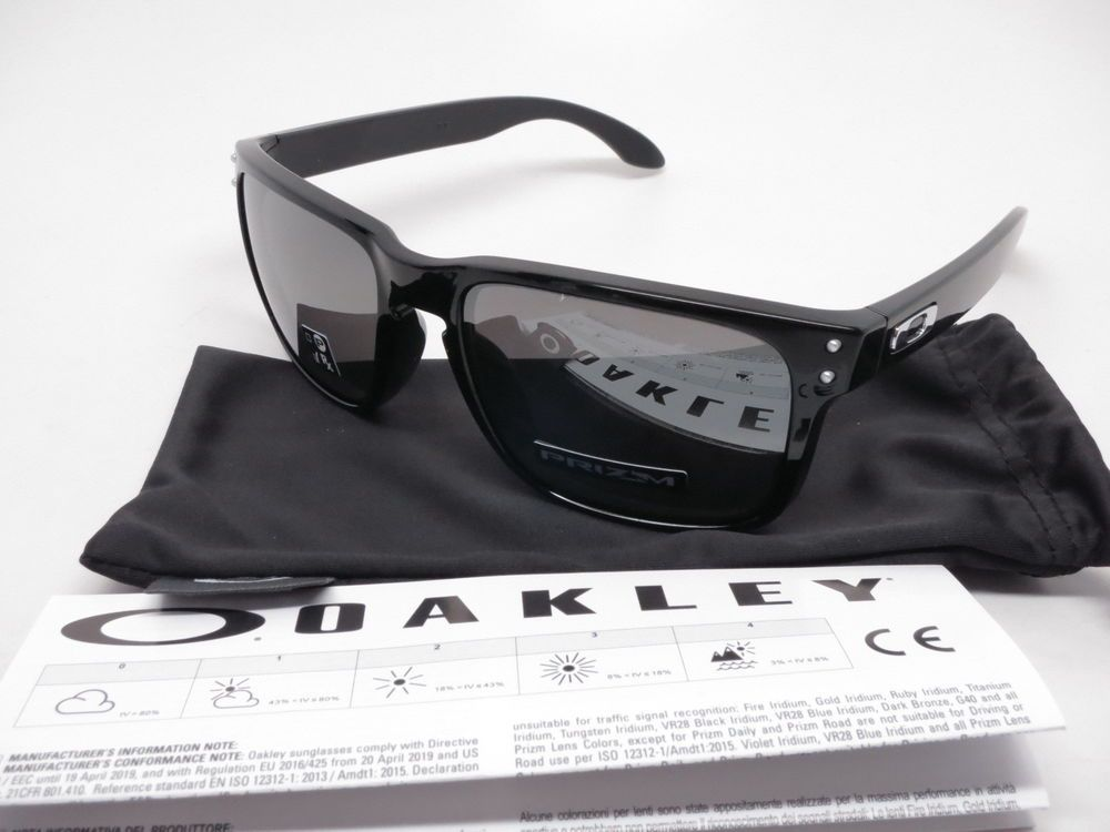 b4d9c544a0 ... Sunglasses Product Info   Brand   Oakley Model Number   OO9102-E155  Model Name   Holbrook Frame Color   Polished Black Lens Color   Prizm Black  Iridium ...